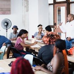 The Arts & Makers Community Business Academy launched at Rebuild Foundation last fall.