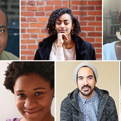 Clockwise from top left: Anthony LeBlanc, Sana Selemon, Charlique C. Rolle, Regina Victor, Mikael Burke, Kamille Dawkins, Donterrio Johnson