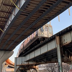 The under-construction Belmont Flyover, officially called the Red-Purple Bypass, is part of the CTA's $2.1 billion Red & Purple Modernization project, partially bankrolled with $1.1 million in federal funding under the Obama-Biden administration.