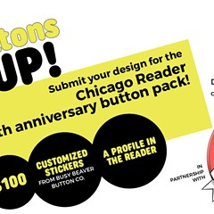 Enter the Buttons Up! Button Design Contest in partnership with Busy Beaver Button Co.