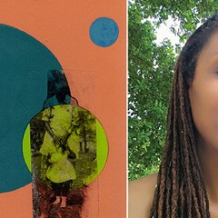 I prayed for you before you were born (i) by Monica J. Brown; selfie of the artist