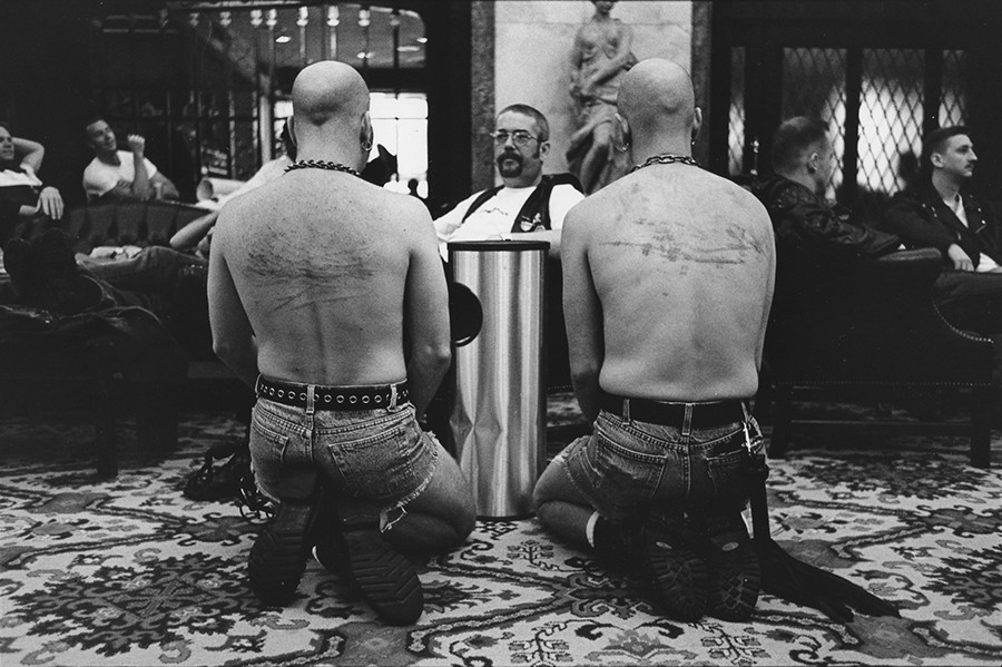 "International Mr. Leather at Congress Hotel, 1997 - By Cynthia Howe for ""Male Bonding"""