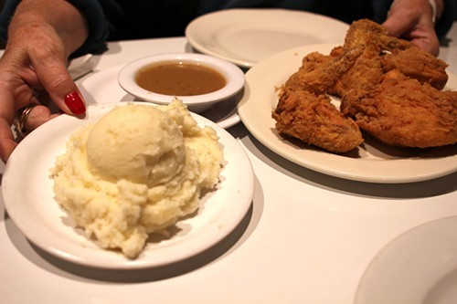 Lou Mitchells fried chicken