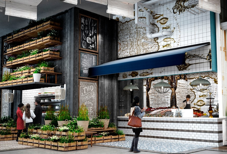 Latinicity is set to open inside Block 37 in October. - RENDERING COURTESY LATINCITY