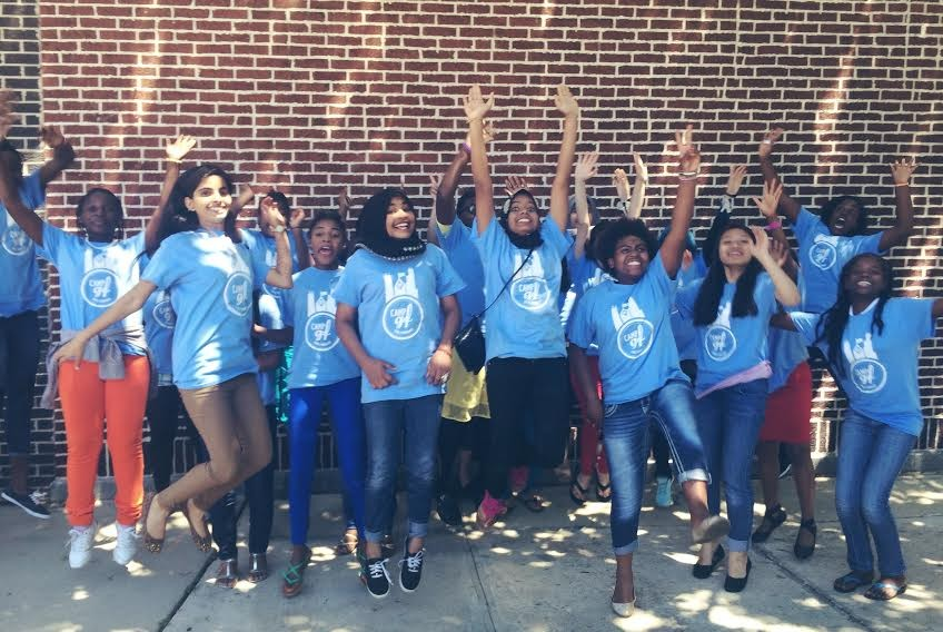 The group of girls who participated in GirlForward's 2015 summer camp - COURTESY GIRLFORWARD