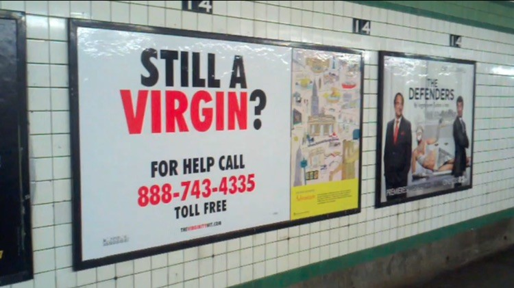 Virginity billboard still a virgin