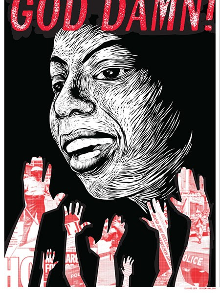 Local artist Kathleen Judge made this poster of Nina Simone for the Girls Rock! Chicago benefit.