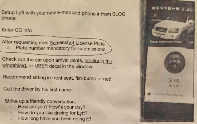 """Fist-bump or not!"" A page from an Uber training guide recommends how brand ambassadors should approach Lyft drivers. - PROVIDED"