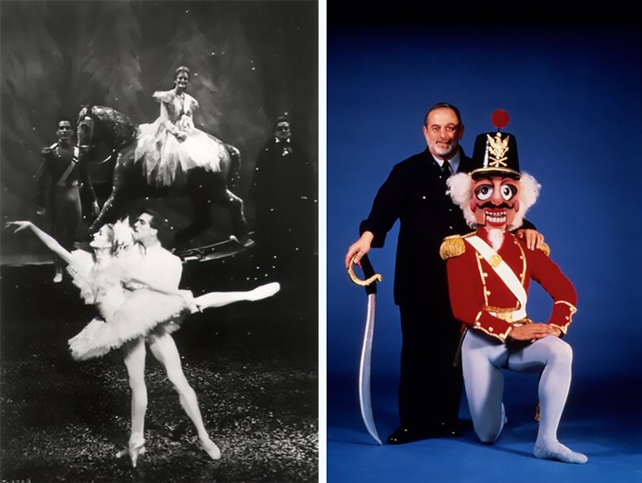 Ashley Wheater, now Joffrey Ballet's artistic director, as the Snow King in the 1987 Nutcracker production; Robert Joffrey in a publicity photo for the show's '87 run - ROBERT MIGDOLL; COURTESY JOFFREY BALLET