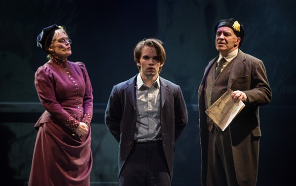 Hollis Resnick, Patrick Rooney, and Kevin Gudahl in Marriott Theatre's Spring Awakening - LIZ LAUREN
