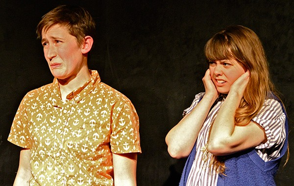 Shannon Noll and Alex Young in Evicted! at the Annoyance - EVAN MILLS