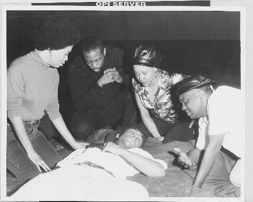Black Panthers mourn the death of Fred Hampton, shot and killed by Chicago police in 1969. - SUN-TIMES