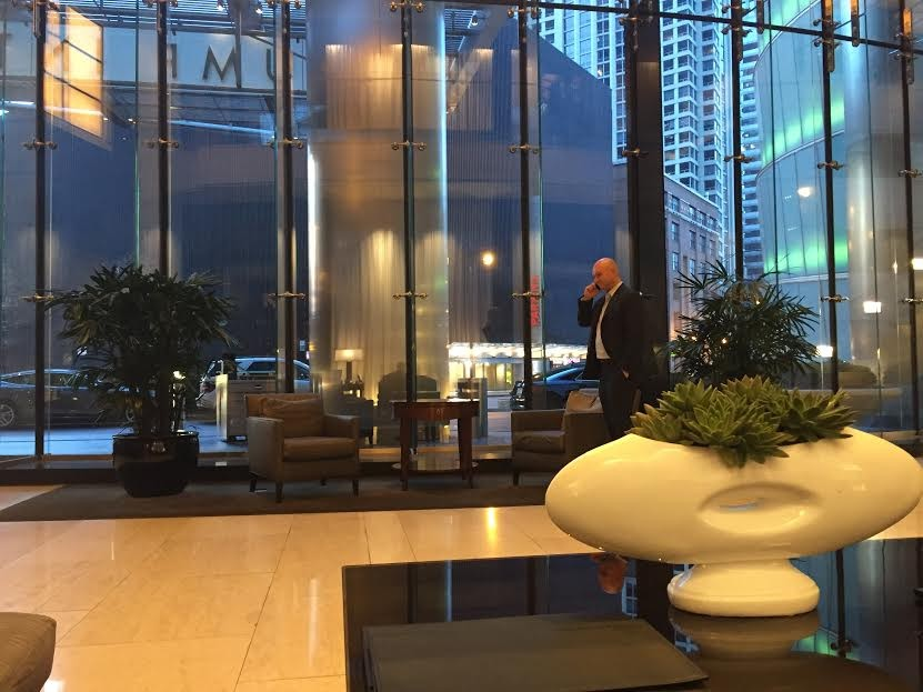 Click To Enlarge The Trump Hotel Was Empty On Super Tuesday Except For Of Course A Suit