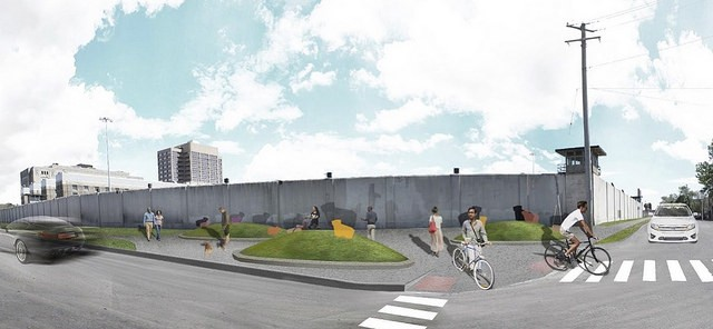 A CDOT rendering of the Paseo at 26th and Sacramento, looking southeast towards the Cook County Jail. - CHICAGO DEPARTMENT OF TRANSPORTATION
