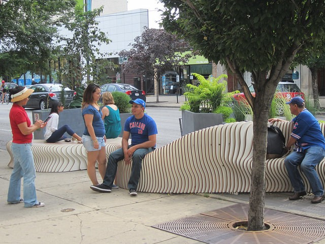 """The Wave"" people spot at Addison and Southport - JOHN GREENFIELD"