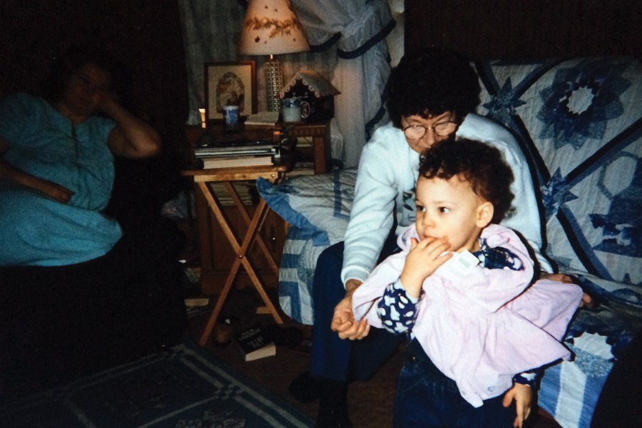 """An infant Kweku Collins with the great-grandmother whose life he honors inhis song """"Memorial"""" - COURTESY THE ARTIST"""