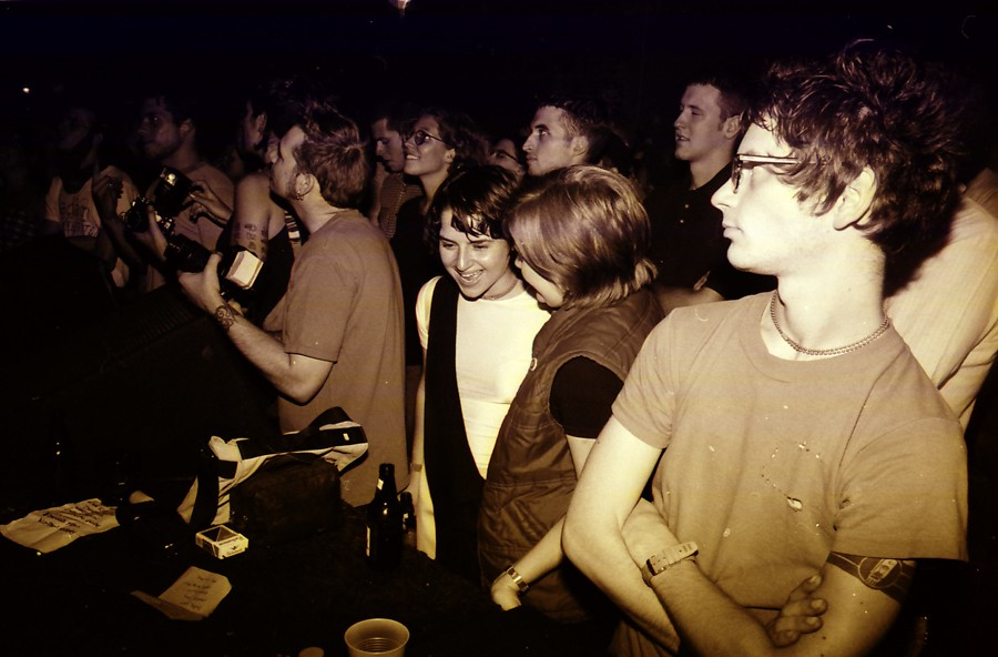 Brian Case (far right), circa late 90s, at the Empty Bottle - CLAIRE MOONEY