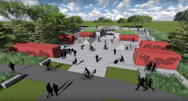 A rendering of some of Big Marsh's proposed bike amenities. - FRIENDS OF BIG MARSH