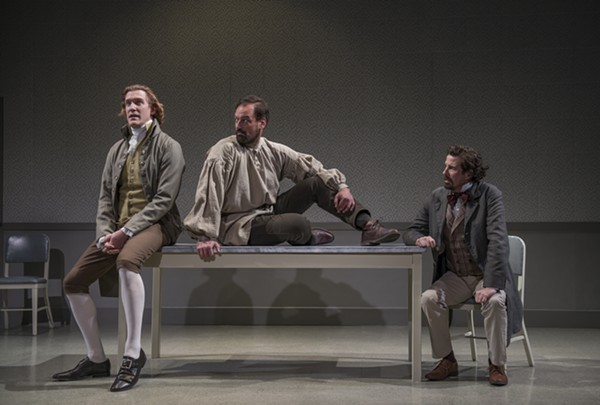 The Gospel According to Thomas Jefferson, Charles Dickens, and Count Leo Tolstoy: Discord, at Northlight Theatre - MICHAEL BROSILOW