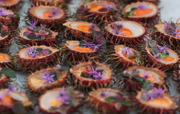 A dish created with sea urchin at last year's Key Ingredient Cook-Off.