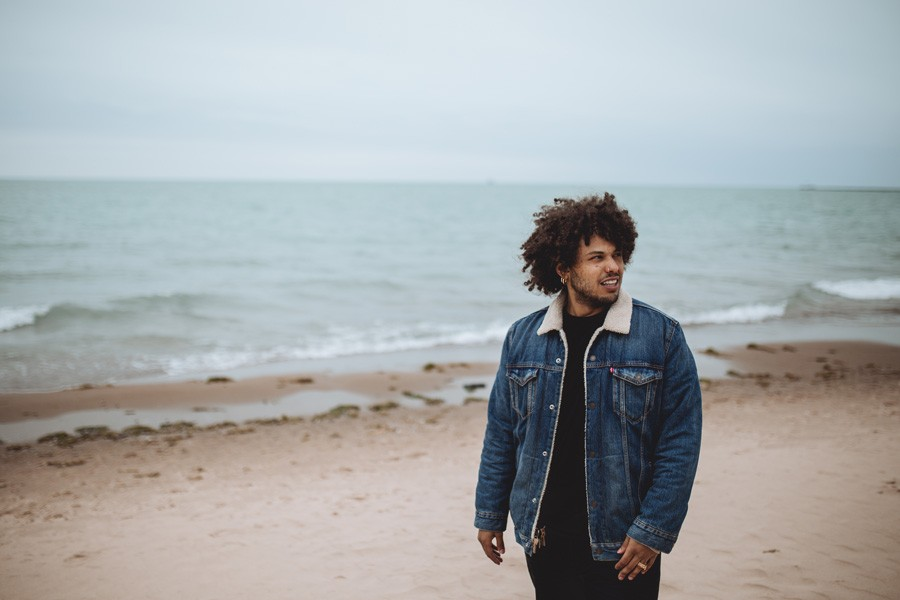 """Purp at Oak Street Beach: """"I wish it was nicer out, so I could just kick it on the beach like we used to."""" - CORY POPP"""