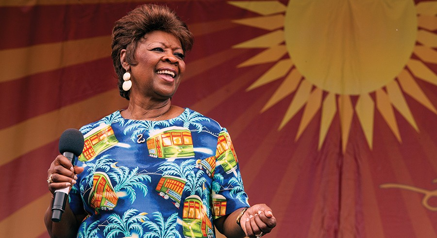 Irma Thomas plays at Petrillo on Saturday evening; she's pictured here at last year's New Orleans Jazz & Heritage Festival. - BARRY BRECHEISEN