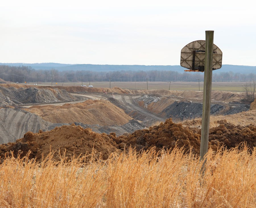 Blasting at the Eagle River coal mine just outside Harrisburg drove many residents from their homes. - KARI LYDERSEN