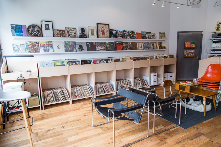 Say hello to the records at Shady Rest Vintage & Vinyl. - SUNSHINE TUCKER