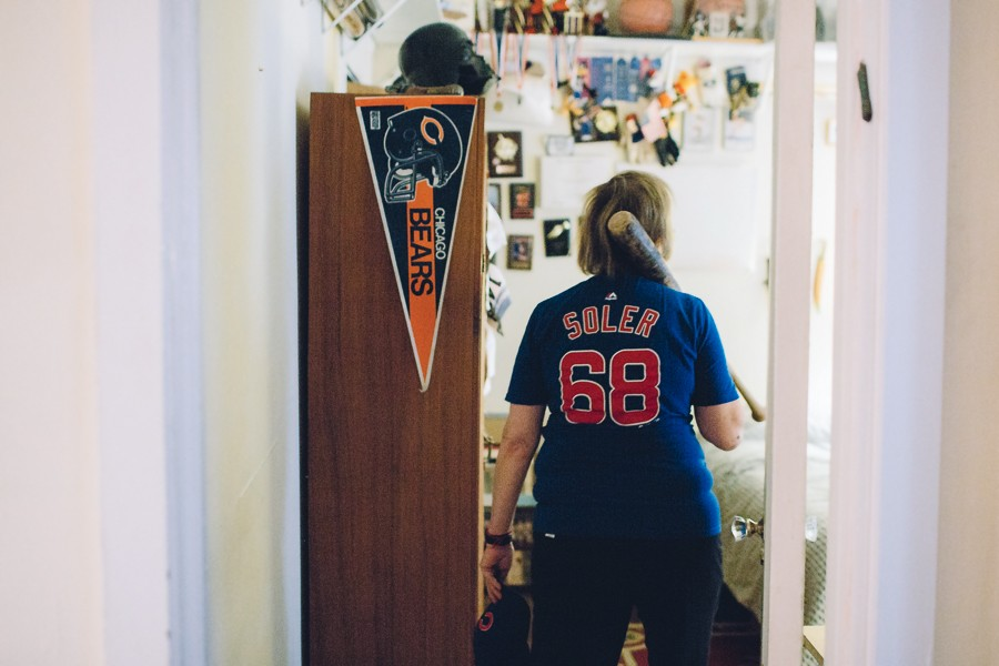 Sherwin surrounded by other Chicago sports memorabilia - STEPHANIE BASSOS
