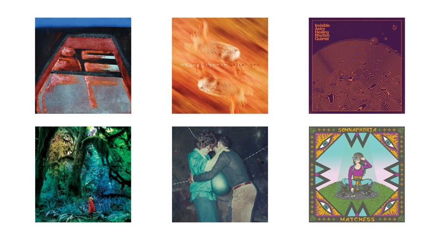 A recent sampling of Trouble in Mind's multifarious offerings: Alto!, LP 3; Chuck Johnson, Velvet Arc; Invisible Astro Healing - Rythm Quartet, 2; Jacco Gardner, Cabinet of Curiosities; Klaus Johann Grobe, Im Sinne der Zeit; Matchess, Somnaphoria