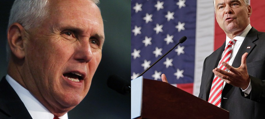 Mike Pence and Tim Kaine go head-to-head during this week's vice-presidential debate. - AP