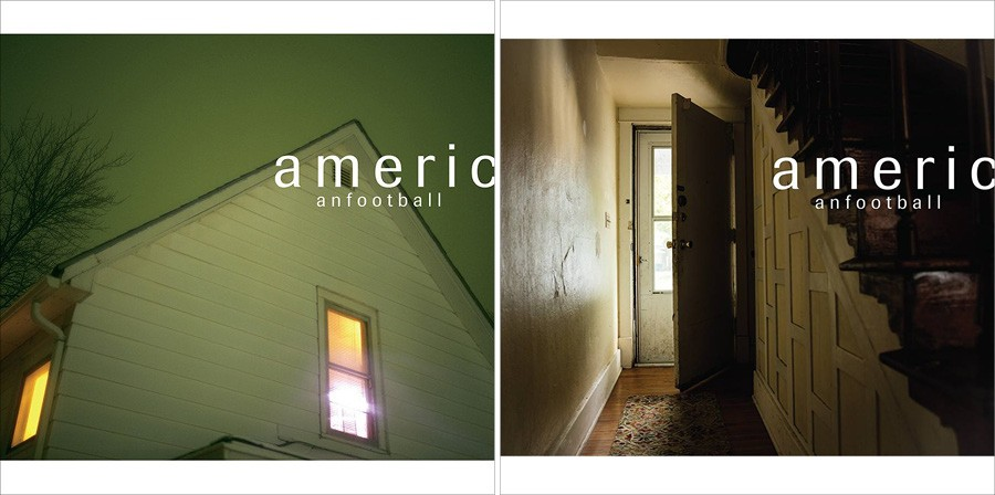 American Football's self-titled 1999 album (left) and self-titled 2016 album