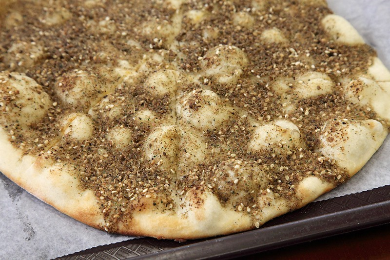 Zaatar bread at Taza Bakery - RONNIE KAPLAN/LTHFORUM