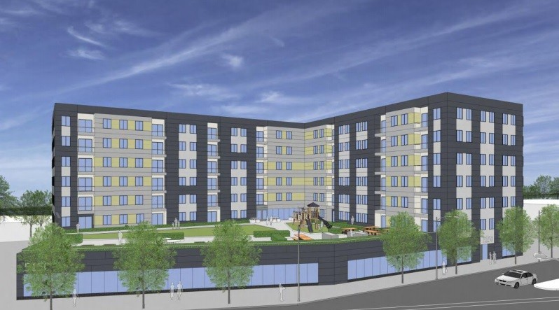 A rendering of the proposed 100-unit affordable housing development - FULL CIRCLE COMMUNITIES