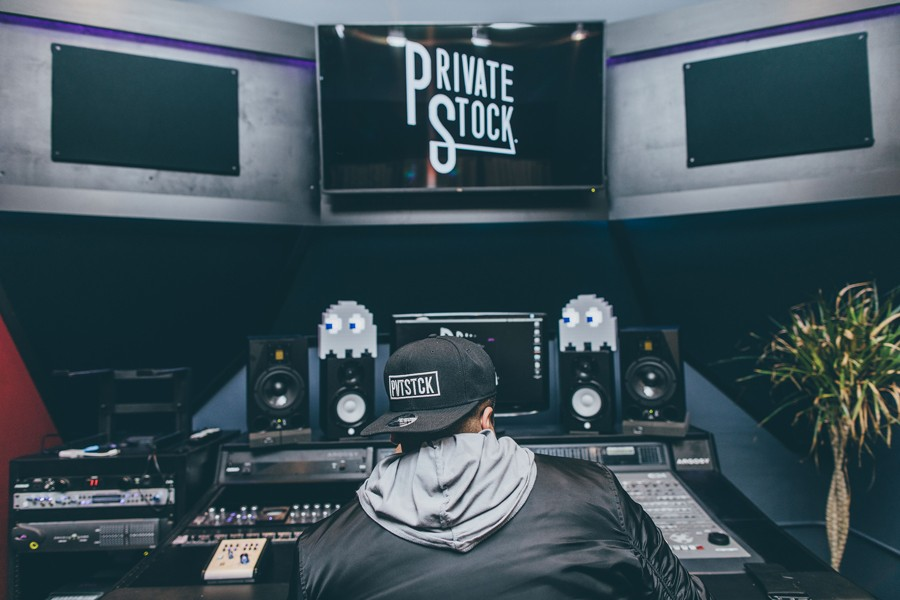 Private Stock founder Jason Valcarcel in one of the collective's studios - BRYAN ALLEN LAMB
