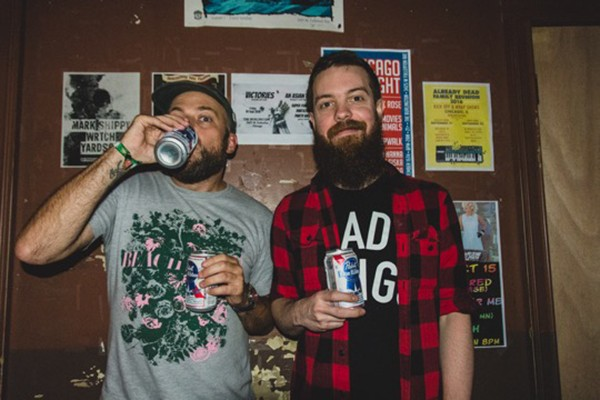 Brent Cayson and Justin Watt run the Burlington's monthly emo night. - VICTORIA SANDERS