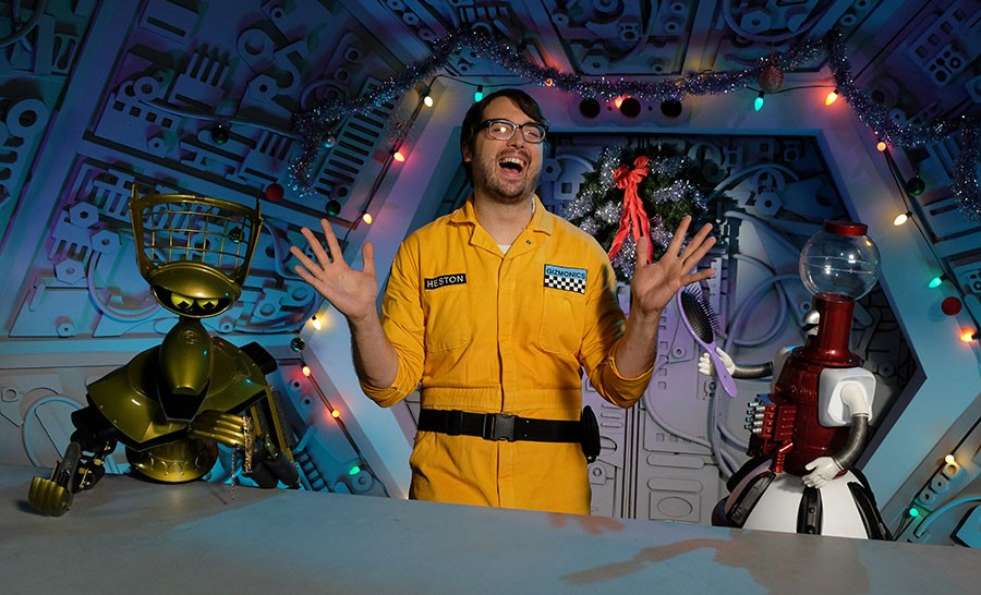 Jonah Ray leads a brand-new cast in the Mystery Science Theater 3000 revival. - DARREN MICHAELS, SMPSP / TM & © 2016 SATELLITE OF LOVE, LLC