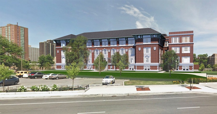 Rendering of the Stewart School Lofts - COURTESY MORNINGSIDE GROUP
