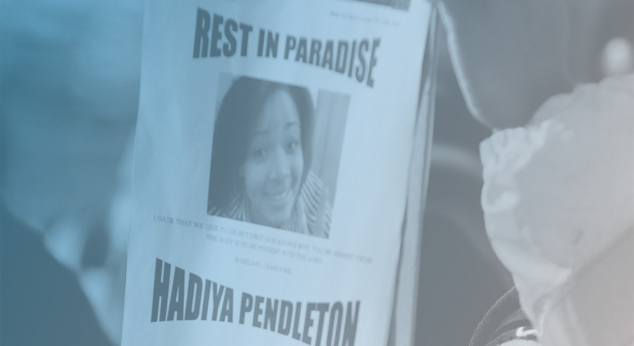 A flyer honoring the memory of gunshot victim Hadiya Pendleton - BRIAN JACKSON/SUN-TIMES