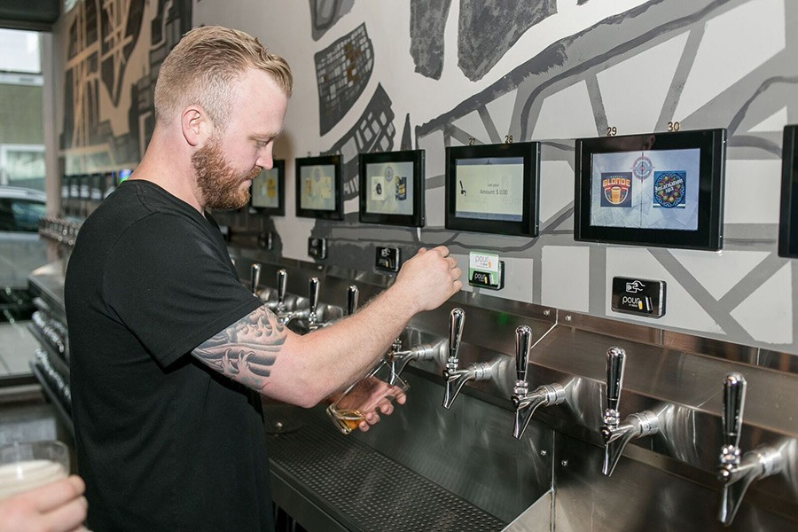 At Pour Your Own Beer Bars Nothing But Technology Stands