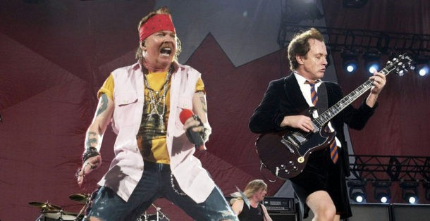 Black Angus, an AC/DC cover band, perform at a tenth-anniversary party for Reggie's on Fri 9/8. - COURTESY OF BLACK ANGUS
