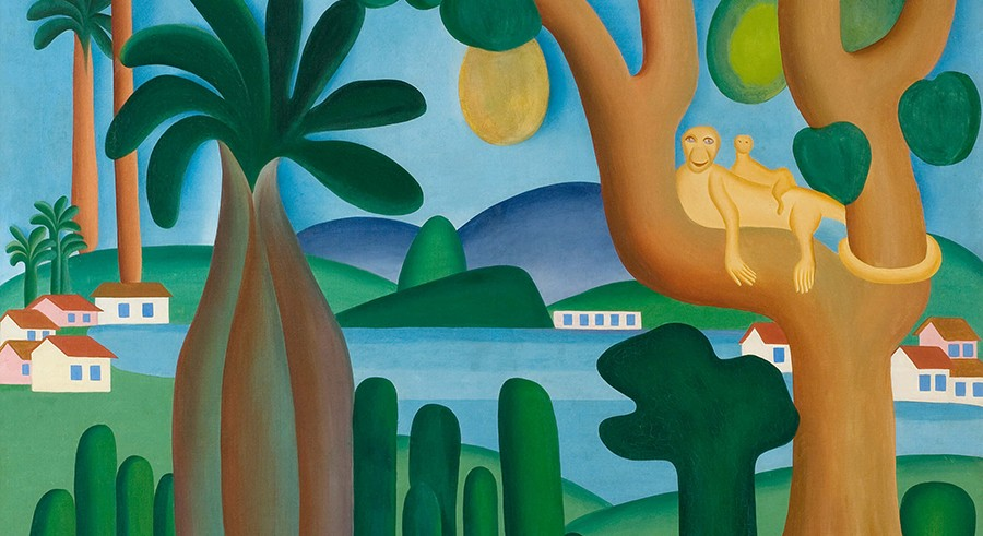 Tarsila do Amaral, Postcard, 1929 - COURTESY ART INSTITUTE