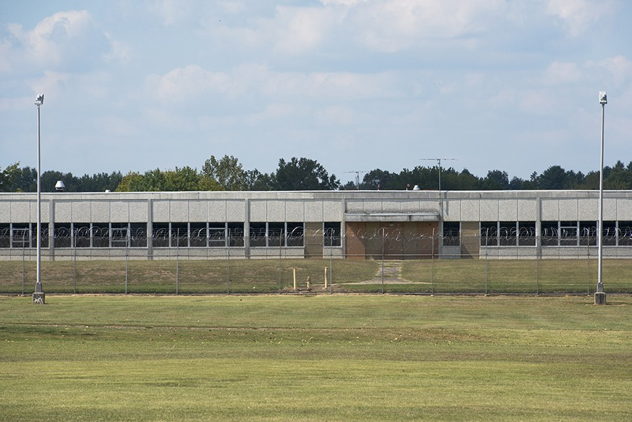 The Illinois Youth Center in Harrisburg, in southern Illinois, where in some cases youths who have assaulted guards are being sent to adult prison rather than dealt with internally. - NICK SCHNELLE FOR PROPUBLICA ILLINOIS