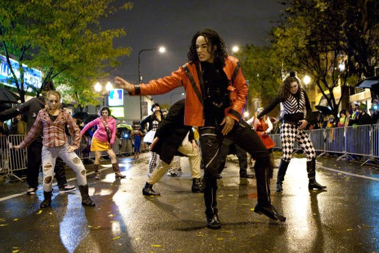 The Chicago Thriller flash mob marches down Halsted to kick off the Northalsted Halloween Parade on Tuesday 10/31. - FACEBOOK