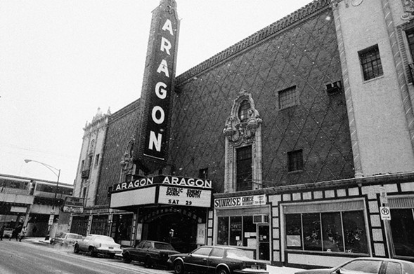 The Aragon Ballroom in December 1990 (image added 2018)