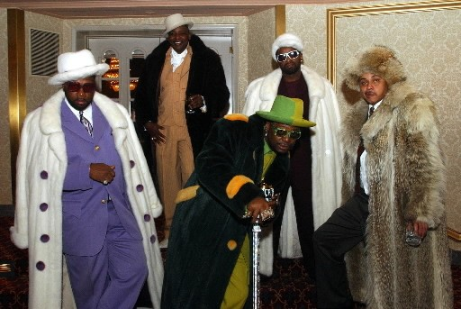 """Don """"Magic"""" Juan and his fellow pimps at Mancow's wedding in 2003 - STEVE MATTEO"""