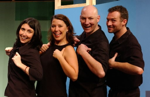 Dan Bakkedahl, second from right, and his castmates in the 2003 Second City revue Doors Open on the Right - SUN-TIMES MEDIA