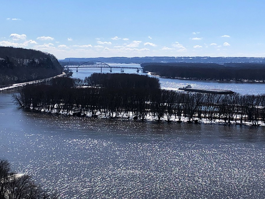 View from Lookout Point at Mississippi Palisades State Park - ONE ILLINOIS/TED COX