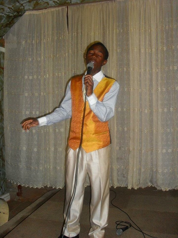 Bugumba makes his church-choir debut in 2011, shortly before his family came to the United States. - COURTESY OF EPHRAIM BUGUMBA