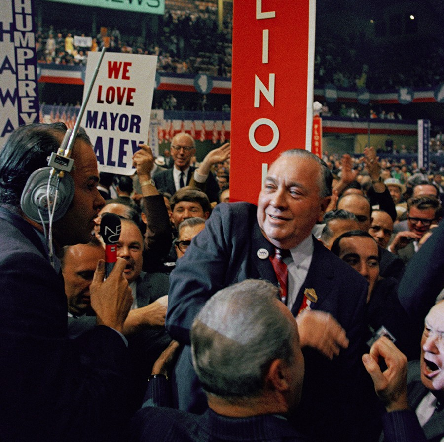 Click To Enlarge Mayor Richard J Daley On The Floor During Final Session At Democratic National